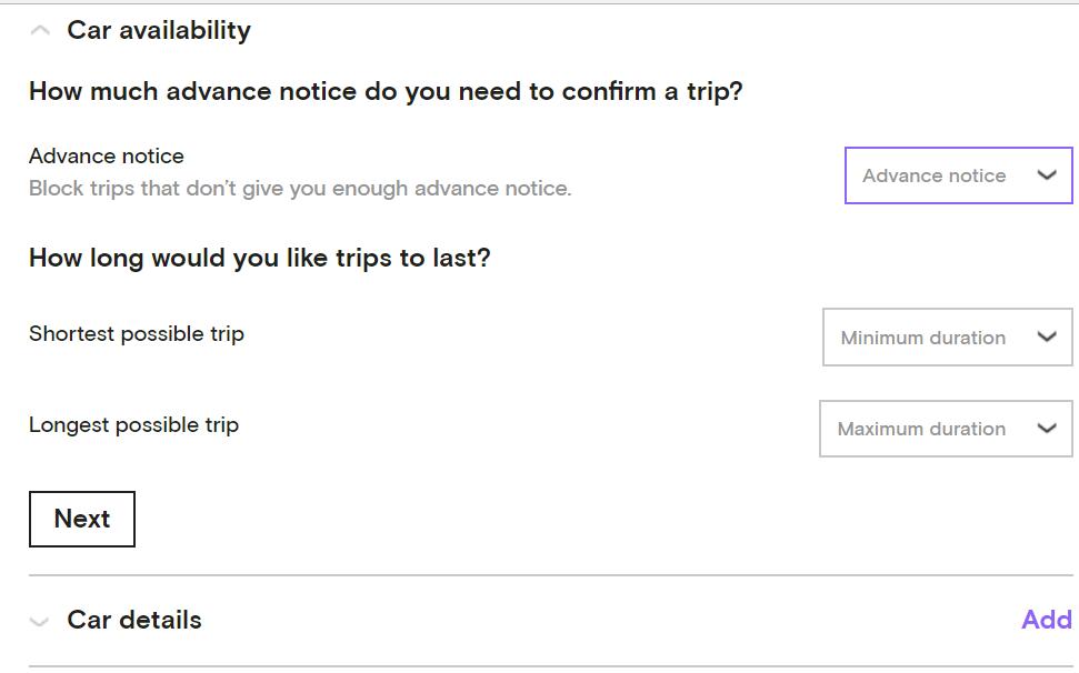 turo availability on car